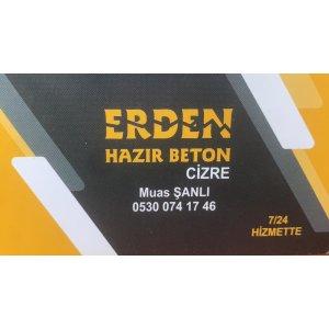 ERDEN HAZIR BETON ŞIRNAK CİZRE